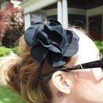Fabric Hair Flower Headband..