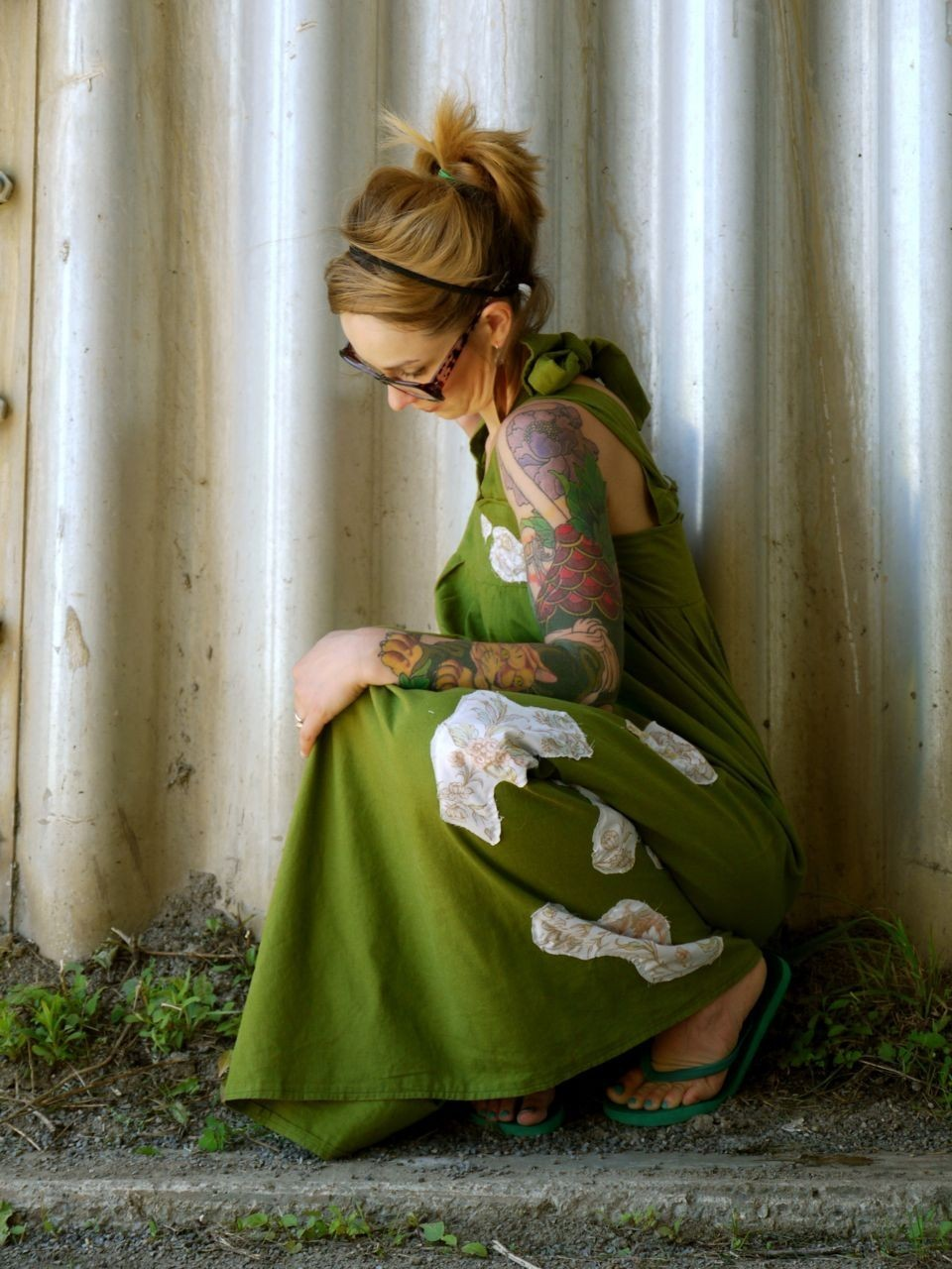 Custom Walking in the Woods Maxi Dress