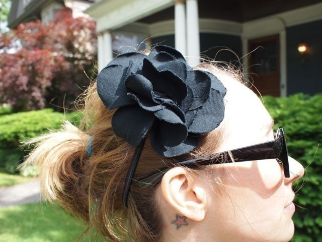 Fabric Hair Flower Headband - Choose your fabric